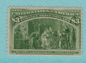United States Stamp Scott #243, Mint Lightly Hinged, Original Gum - Free U.S....