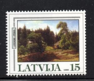 Latvia Sc 4961999 Painting by Feders stamp mint NH