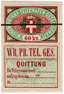 (I.B) Austria Telegraphs : Vienna Private Telegram 40kr