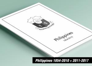 PRINTED PHILIPPINES 1854-2010 + 2011-2017 STAMP ALBUM PAGES (586 pages)