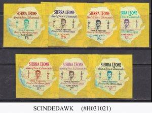 SIERRA LEONE - 1963  HONOURS JOHN F. KENNEDY AIR MAIL - 7V MNH SELF-ADHESIVE