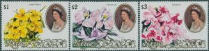 Niue 1981 SG405-407 Flowers QEII MNH