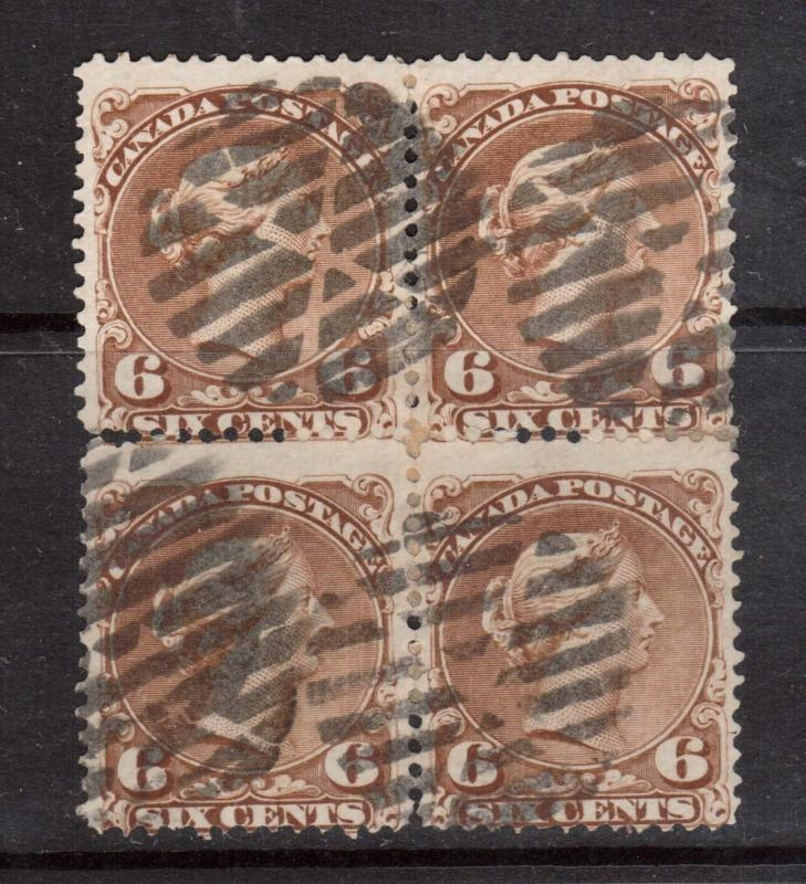Canada #27a Used Rare Block