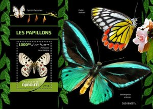 Z08 IMPERF DJB190607b Djibouti 2019 Butterflies MNH ** Postfrisch