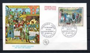 France 1115 First Day Cover  => Paintings, horses <=   Value  $3