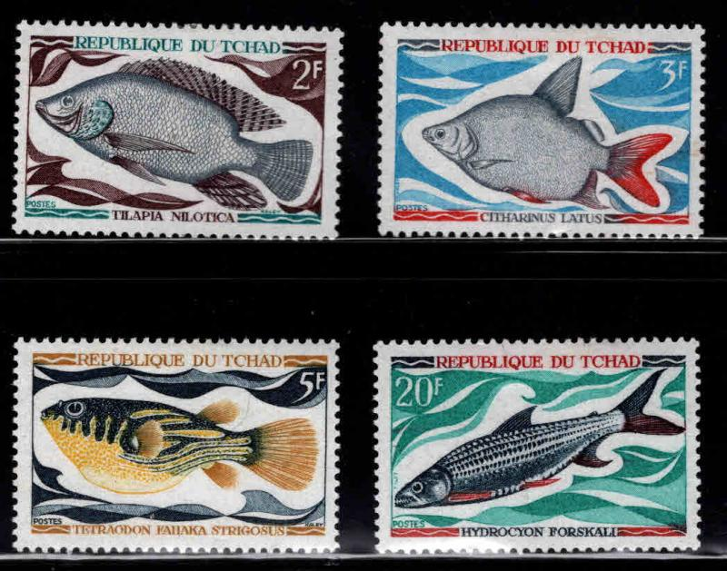 Chad TCHAD Scott 218-221 MH* Fish set