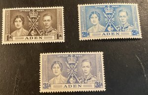 Aden Scott 13-15 Coronation of KGVI-Mint