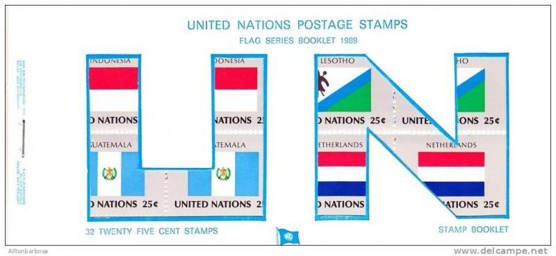 UNO,United Nations NEW YORK - flag booklet 1989