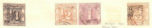 GERMANY THURN & TAXIS 15//20 USED MOUNTED $205 SCV