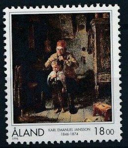 Aland 1996 #129 MNH. Painting