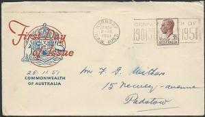 AUSTRALIA 1951 GVI 3½d commem FDC........................................41050
