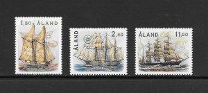 SHIPS - ALAND #31-33  SAILING SHIPS  MNH