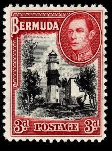 BERMUDA SG114, 3d black & rose-red, LH MINT. Cat £29.