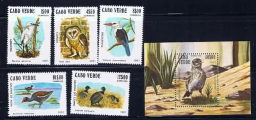 Cape Verde 436-41 NH Birds Set