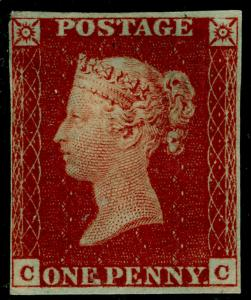 SG8, 1d red-brown PLATE 13, M MINT. Cat £600+. CC