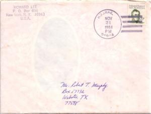 Caroline Islands Micronesia 20c Duperrey 1984 Kosrae, 96944 to Webster, Texas...