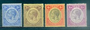 Nyasaland Protectorate #15-18  Mint  Scott $15.50