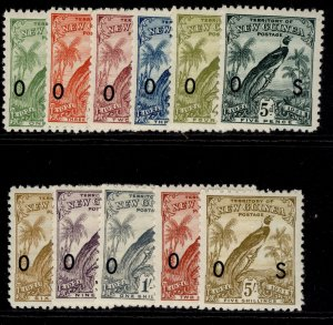 AUSTRALIA - New Guinea GV SG O31-O41, complete set, LH MINT. Cat £225.