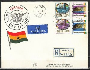 Ghana, Scott cat. 311-314. United Nations Day issue. First day cover.