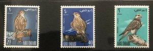 ABU-DHABI 1965 SAKER FALCON ON GLOVED HAND (MNH) SG12-14 HIGH C.V £60/-