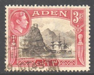 Aden Scott 22 - SG22, 1939 George VI 3a used