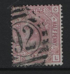 GREAT BRITAIN, 67, USED, PLATE 9, 1876-80, Queen Victoria