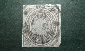 Germany-No German Conf #12 used clipped corner e205 9527