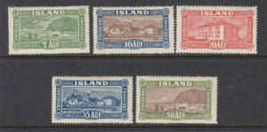 Iceland #144-148 Complete (Mint   HINGED) - great gum cv$337.50
