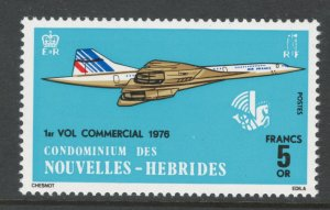 French New Hebrides 1976 1st Commercial Flight of SST Scott # 223 MH NG