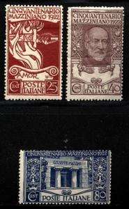 Italy Scott 140-42 Mint Previously Hinged $48.50