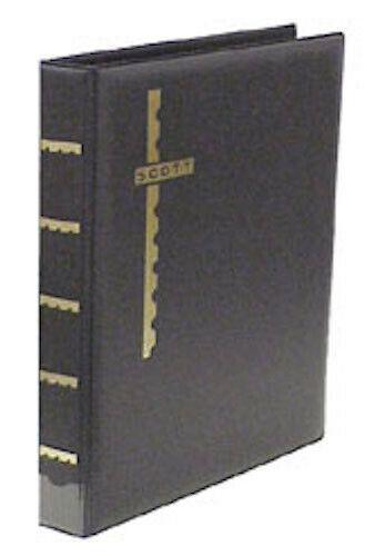 Black Scott Mint Stamp Sheet Album 3-Ring Binder & Pack of 25 Black Sheet Pages