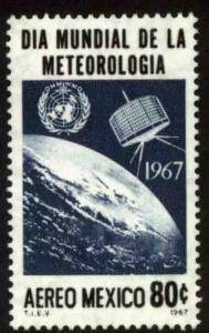 MEXICO C323 World Meteorological Day, Tiros Satellite. MNH