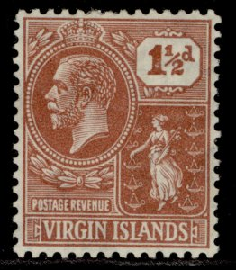 BRITISH VIRGIN ISLANDS GV SG91, 1½d venetian-red, M MINT.