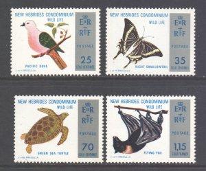 Vanuatu New Hebrides Scott 183/186 - SG184/187, 1974 Nature Set MNH**