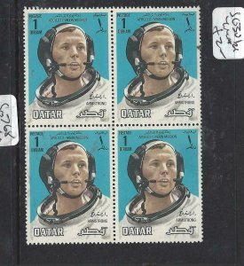QATAR (P2506BB)  SPACE  SG 301  BL OF 4  MNH