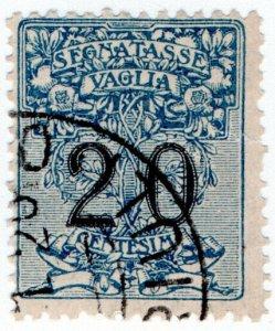 (I.B) Italy Revenue : Postal Order Stamp 20c (Segnatasse)
