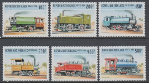 Togo 1911H-1911M Trains MNH VF