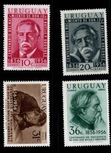 Uruguay Scott C169-172 MH*  Airmail stamp set