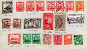 NEW ZEALAND STAMP USED STAMPS ON PAGE COLLECTION LOT #2