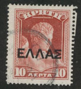 Crete Scott 114 used 1909 overprint