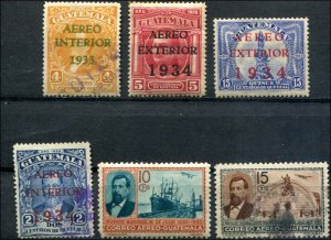 Guatemala SC# C25-30 Overprinted and regular issues Used and MH Used SCV $11.35