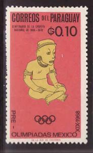 Paraguay Scott 927 MH* stamp