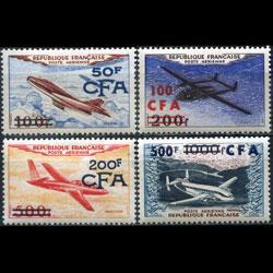 REUNION 1954 - Scott# C42-5 Planes Set of 4 LH