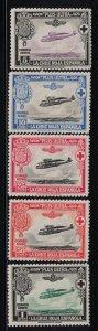 Spain  CB1-CB5  Red Cross Issue   1926   MH Scv  $ 7.50