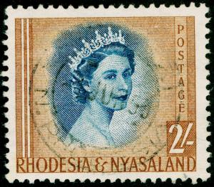 RHODESIA & NYASALAND SG11, 2s deep-orange & ultramarine, FINE USED, CDS.
