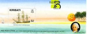 Kiribati 1999 Ships James Cook s/s Perforated mnh.vf