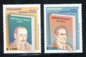 Paraguay 2776-7, MNH Writers Herib Campos Cervera Gabriel Cassaccia, 2005 x31109