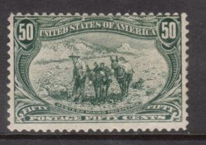 USA #291 Mint Fine Original Gum Hinged