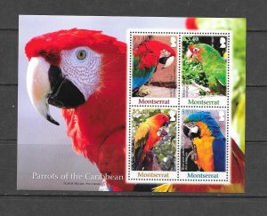 BIRDS - MONTSERRAT #1193  PARROTS  MNH