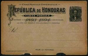 HONDURAS 1893 - Pre-stamped Card-General 3c(WG313)
